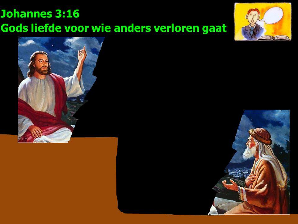 Johannes 3:16 Gods liefde voor wie anders verloren gaat