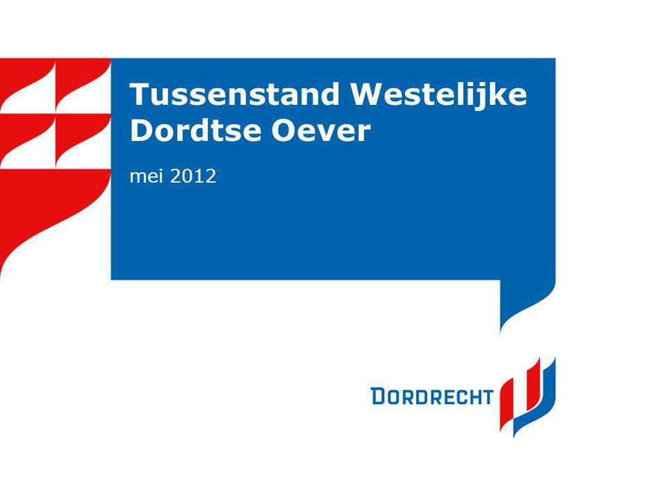 Inhoud presentatie Historie Westelijke Dordtse Oever (WDO): doelen, maatregelen, financiële afspraken anno 2009 Stand van zaken maatregelen anno 2012
