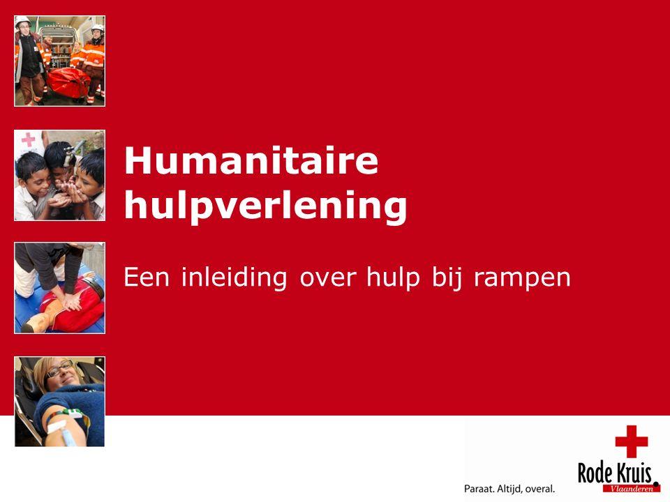 Humanitaire hulpverlening Een inleiding over hulp bij rampen
