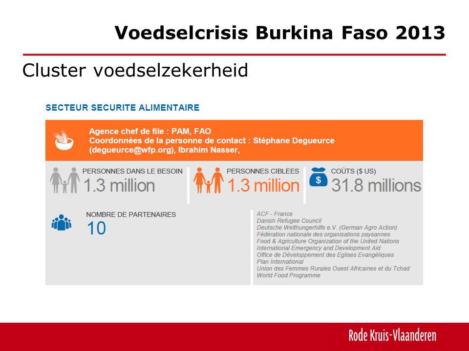 Cluster voedselzekerheid Voedselcrisis Burkina Faso 2013
