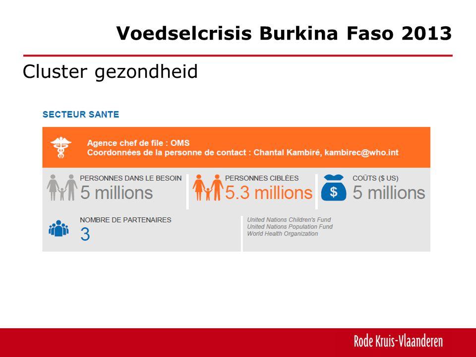 Cluster gezondheid Voedselcrisis Burkina Faso 2013
