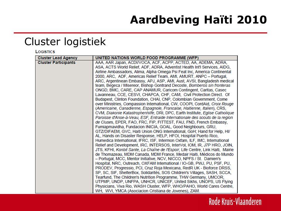 Cluster logistiek Aardbeving Haïti 2010