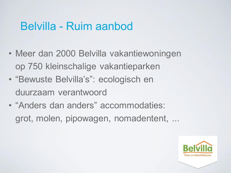 """Belvilla - Ruim aanbod Meer dan 2000 Belvilla vakantiewoningen op 750 kleinschalige vakantieparken """"Bewuste Belvilla's"""": ecologisch en duurzaam verant"""