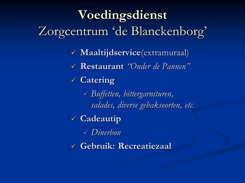 Voedingsdienst Zorgcentrum 'de Blanckenborg'