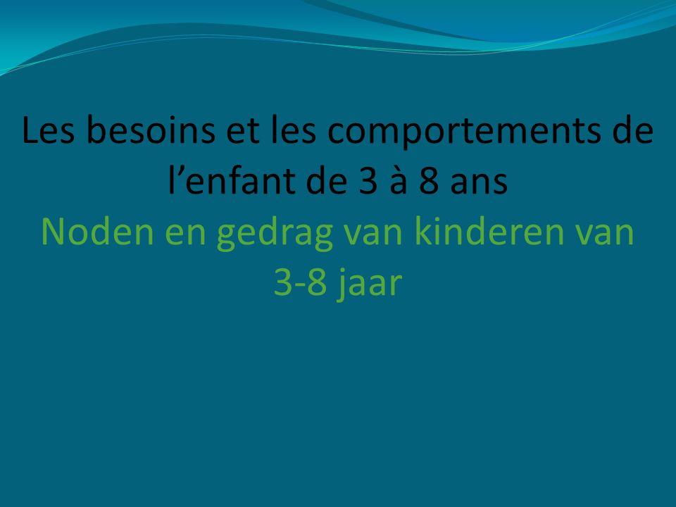 Les besoins et les comportements de l'enfant de 3 à 8 ans Noden en gedrag van kinderen van 3-8 jaar