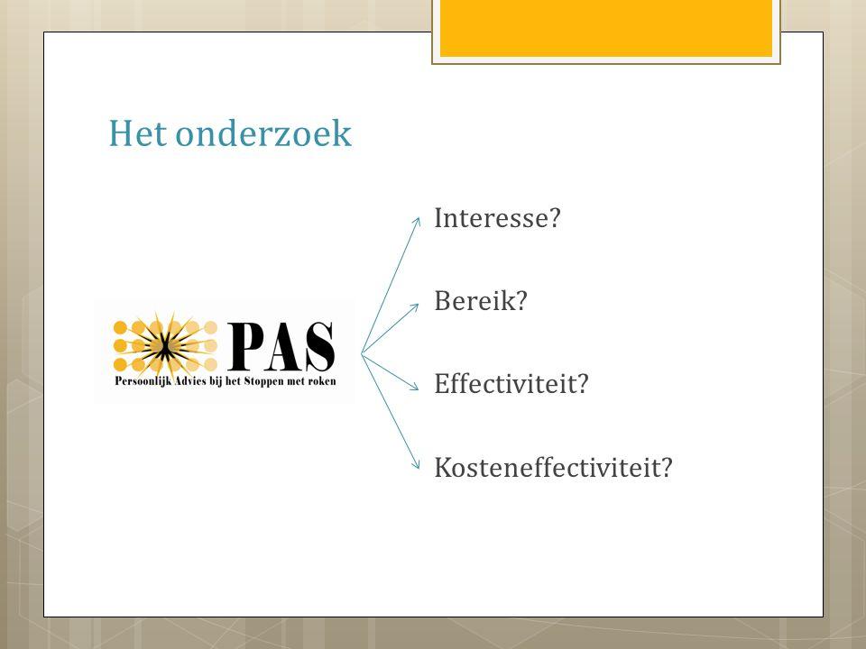 Het onderzoek Interesse Bereik Effectiviteit Kosteneffectiviteit