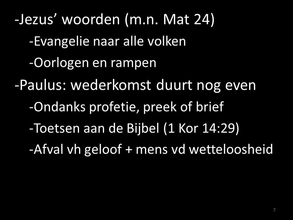 -Afval van het geloof -Vandaag en in Paulus' tijd (vgl. 2 Tm 4:10) 8