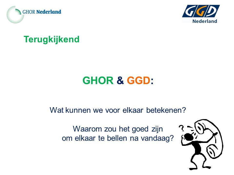 GHOR & GGD: Wat kunnen we voor elkaar betekenen.