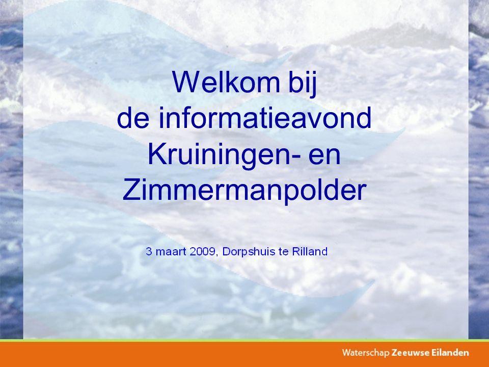 Welkom bij de informatieavond Kruiningen- en Zimmermanpolder