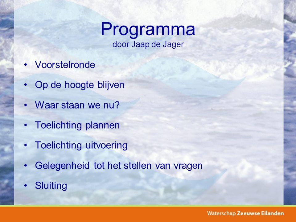 Programma door Jaap de Jager Voorstelronde Op de hoogte blijven Waar staan we nu.
