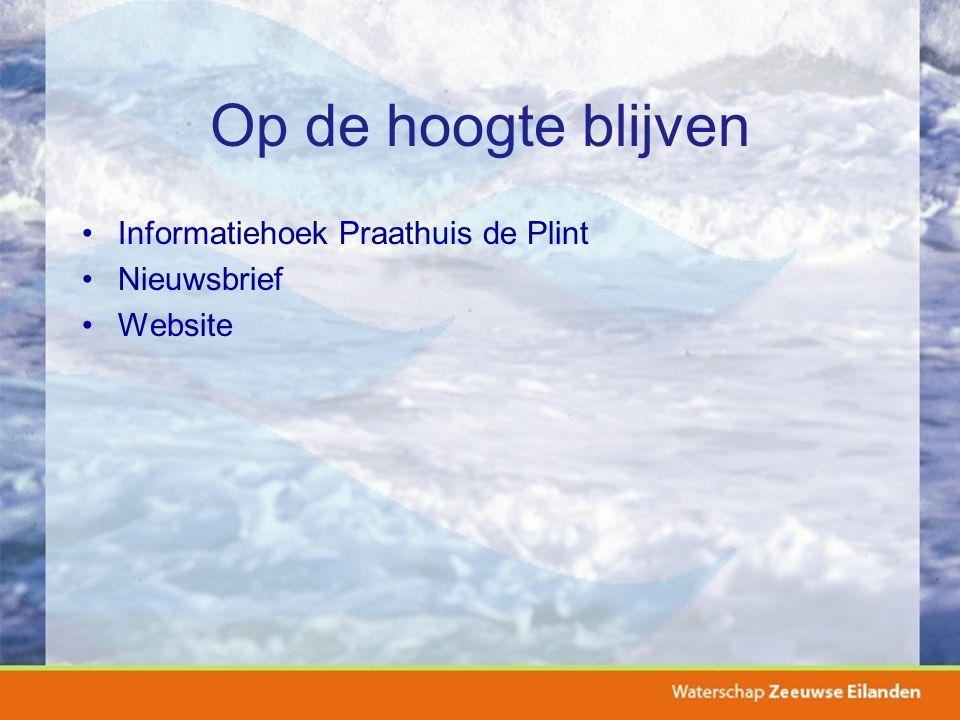 Op de hoogte blijven Informatiehoek Praathuis de Plint Nieuwsbrief Website