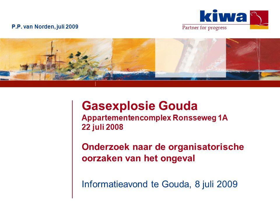 Partner for progress Gasexplosie Gouda Appartementencomplex Ronsseweg 1A 22 juli 2008 Onderzoek naar de organisatorische oorzaken van het ongeval Informatieavond te Gouda, 8 juli 2009 P.P.
