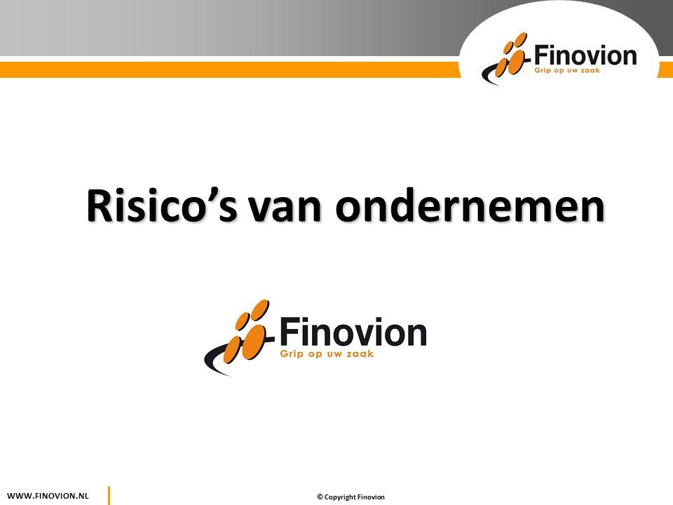 © Copyright Finovion WWW.FINOVION.NL Risico's van ondernemen