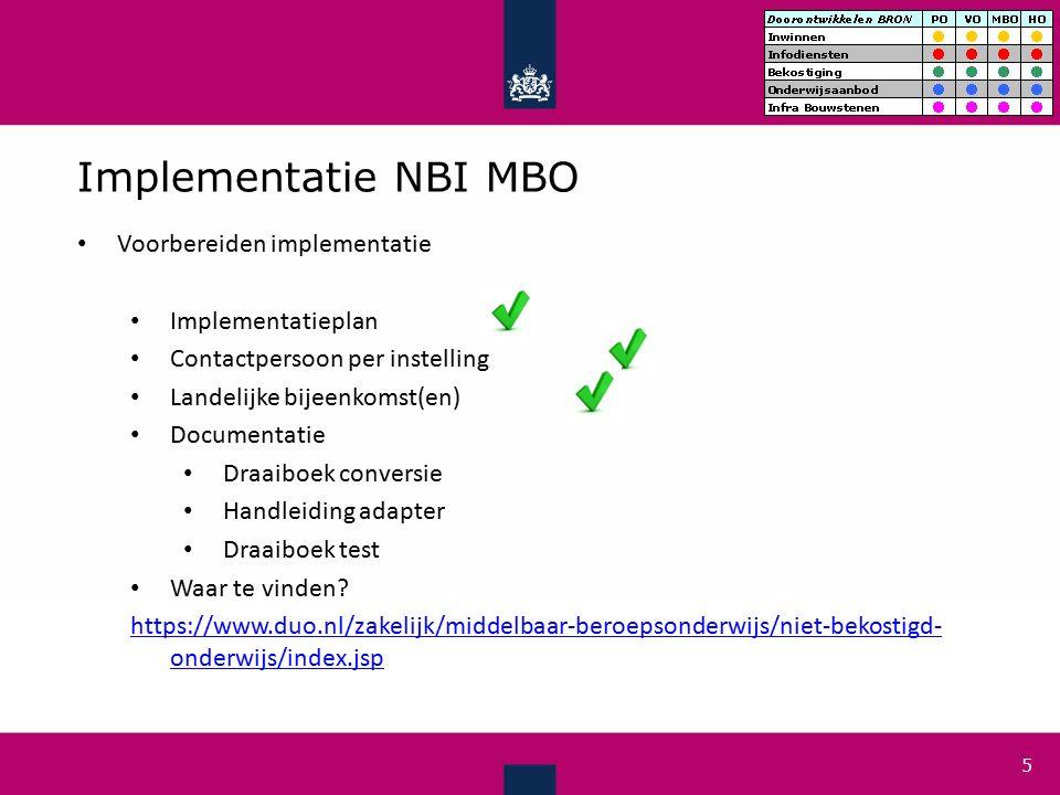 Tijdlijn niet bekostigde instellingen MBO Tot en met juli 2016: Bouwen conform PvE (zie ook op website) NB.