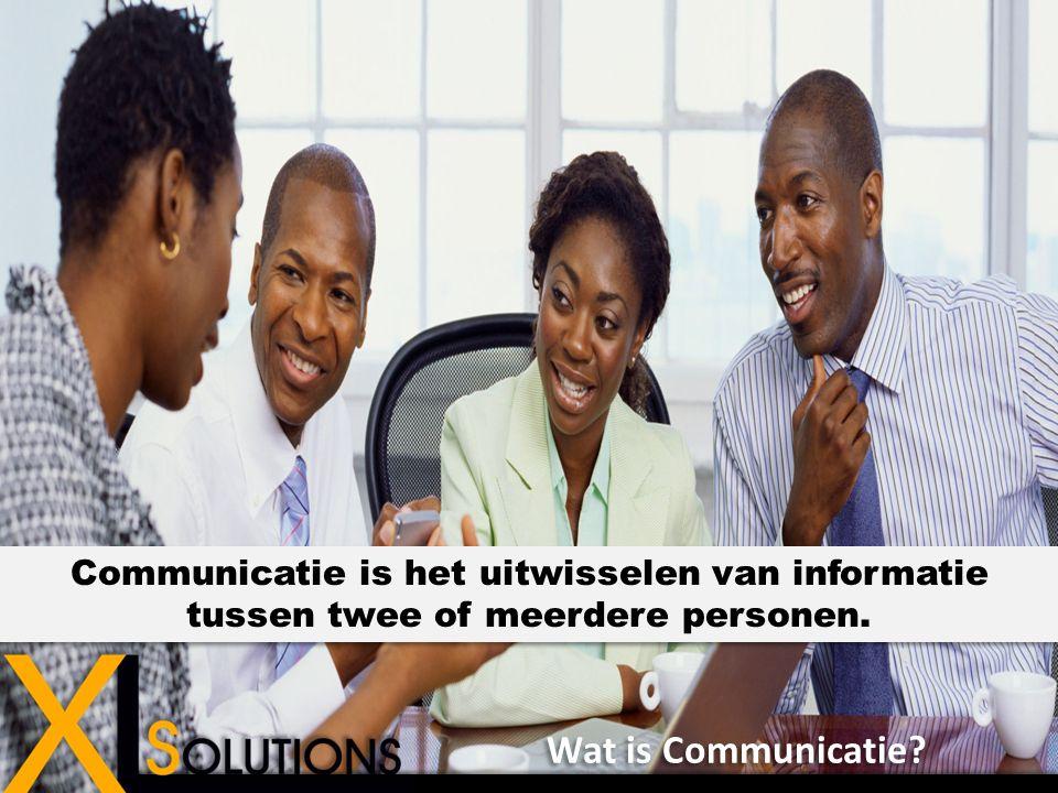 Communicatie is het uitwisselen van informatie tussen twee of meerdere personen.