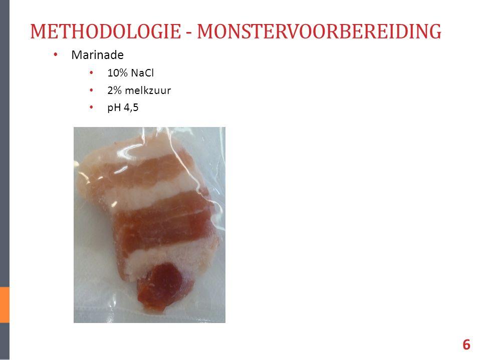 RESULTATEN EN DISCUSSIE - MICROBIOLOGIE Aantal gisten en schimmels op varkensspek 17