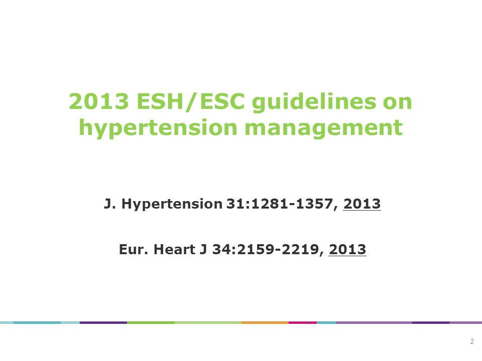 STREEFBLOEDDRUK 2007 – 2009:<140/90 mmHg <130/80 mmHg bij hoog risico patiënt 2013:<140/90 mmHg 3