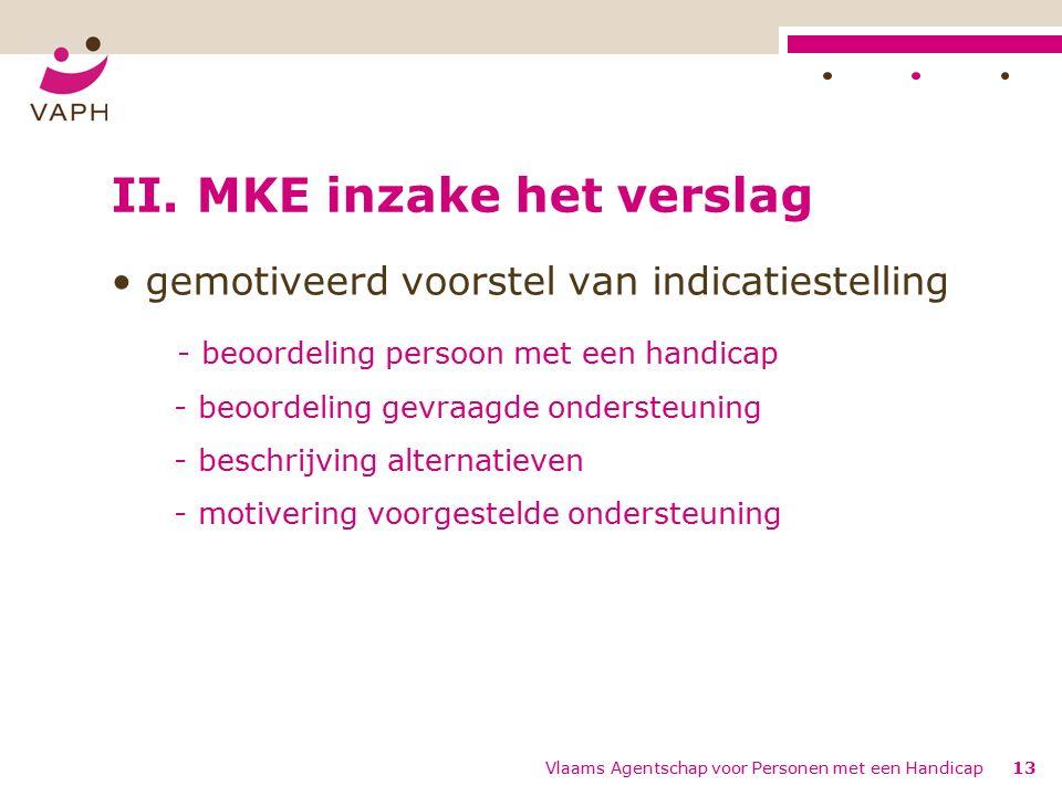 Vlaams Agentschap voor Personen met een Handicap13 II.