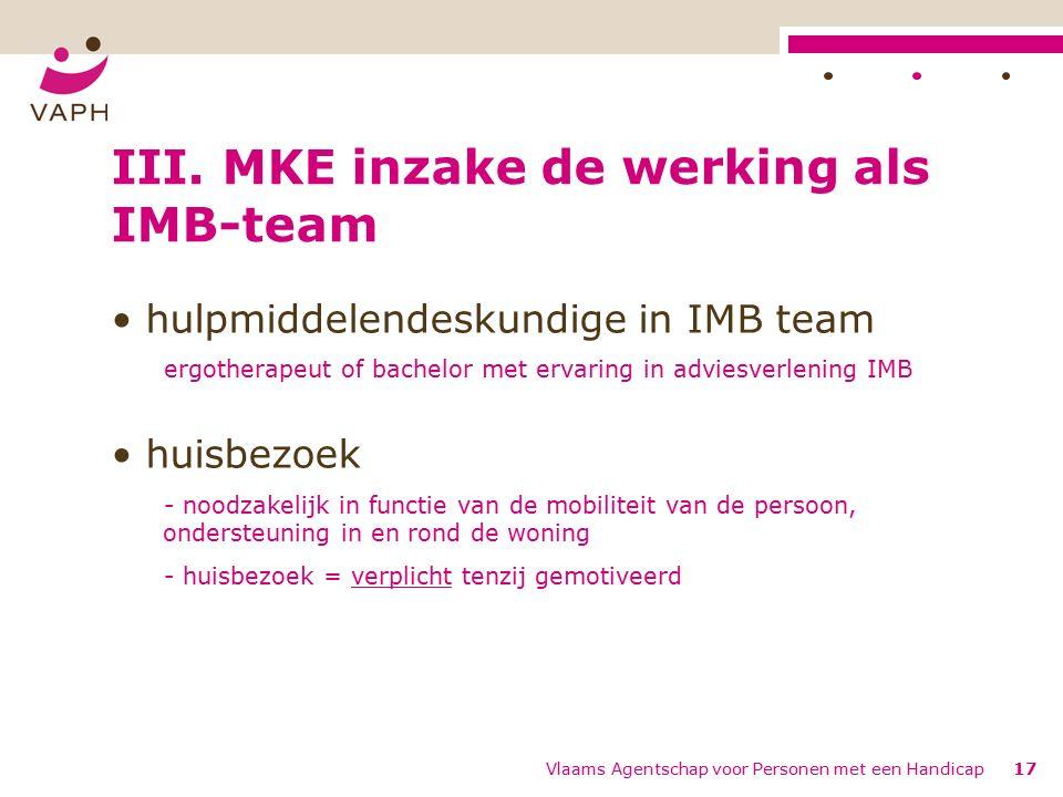 Vlaams Agentschap voor Personen met een Handicap17 III.