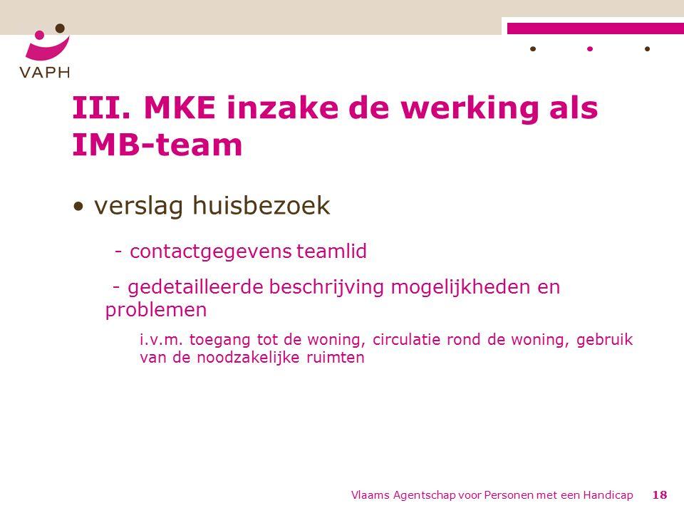 Vlaams Agentschap voor Personen met een Handicap18 III.