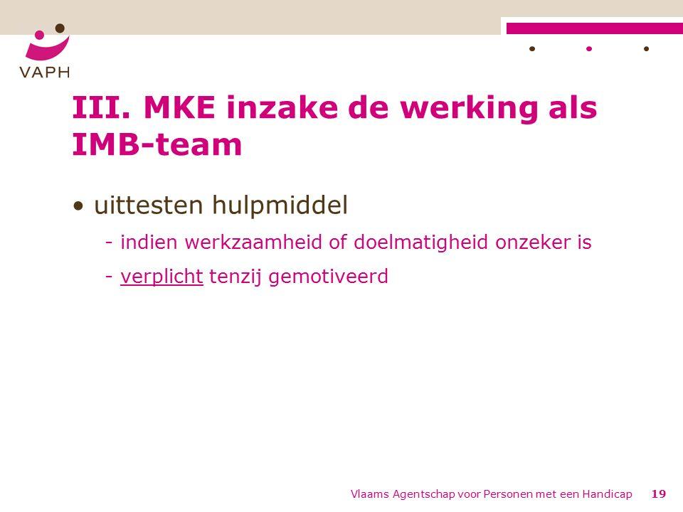 Vlaams Agentschap voor Personen met een Handicap19 III.