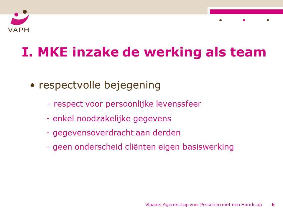 Vlaams Agentschap voor Personen met een Handicap6 I.