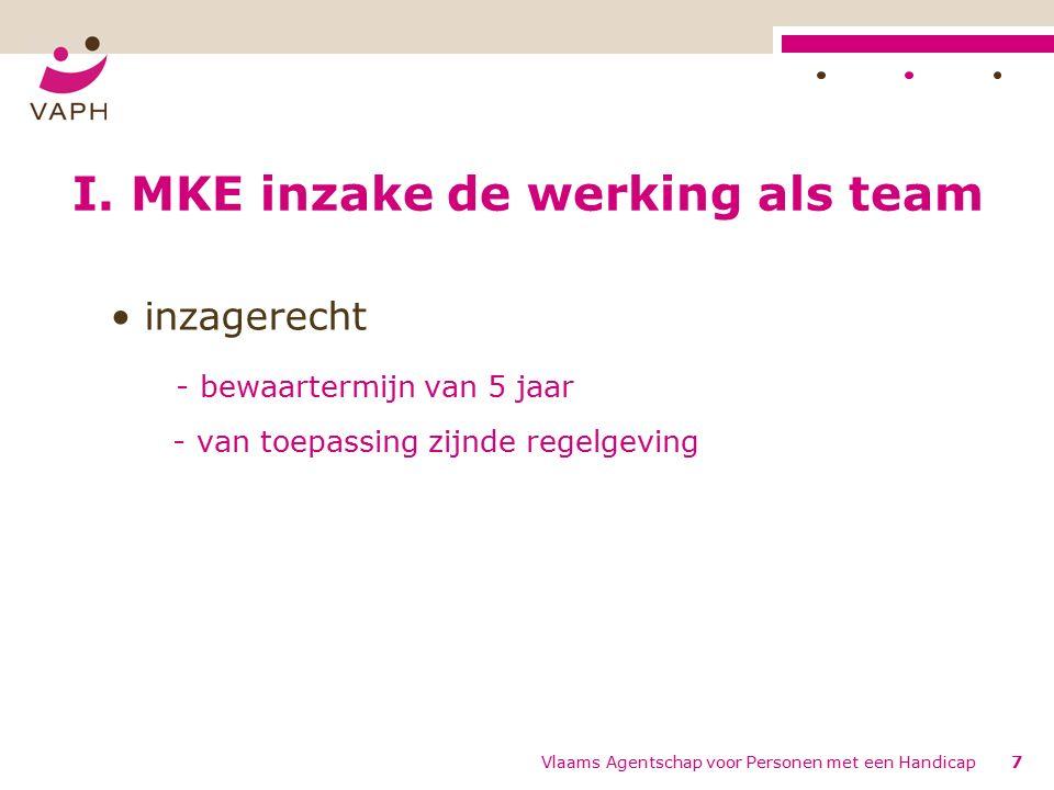 Vlaams Agentschap voor Personen met een Handicap8 I.