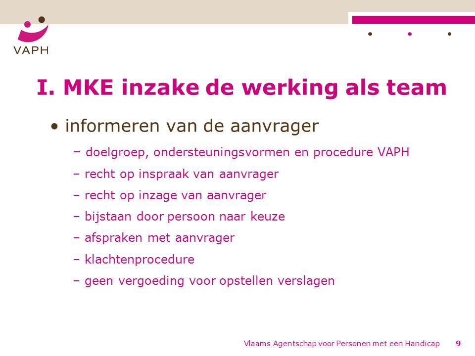 Vlaams Agentschap voor Personen met een Handicap20 III.