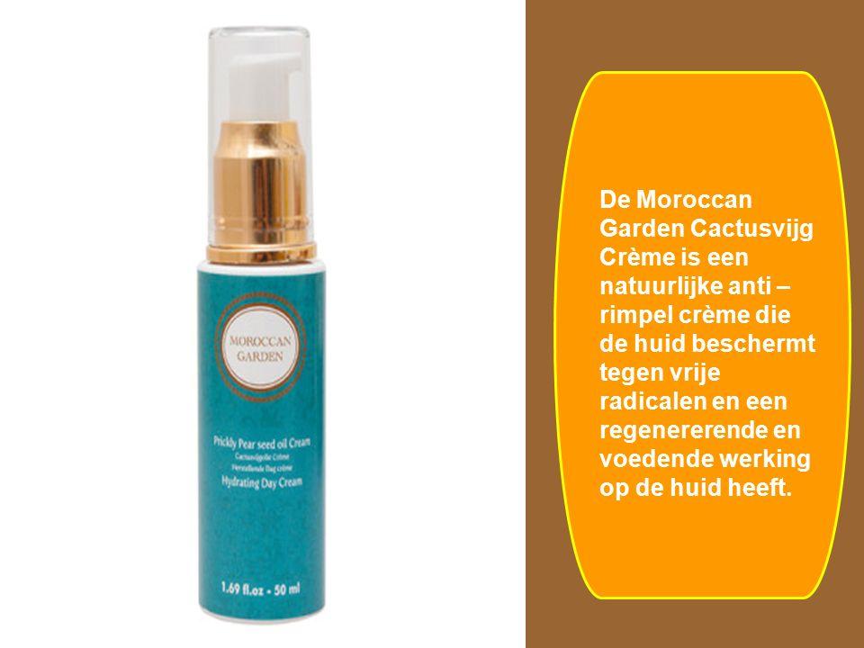De Moroccan Garden Cactusvijg Crème is een natuurlijke anti – rimpel crème die de huid beschermt tegen vrije radicalen en een regenererende en voedend