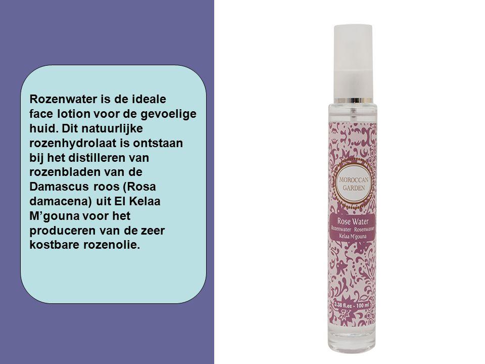 Rozenwater is de ideale face lotion voor de gevoelige huid. Dit natuurlijke rozenhydrolaat is ontstaan bij het distilleren van rozenbladen van de Dama
