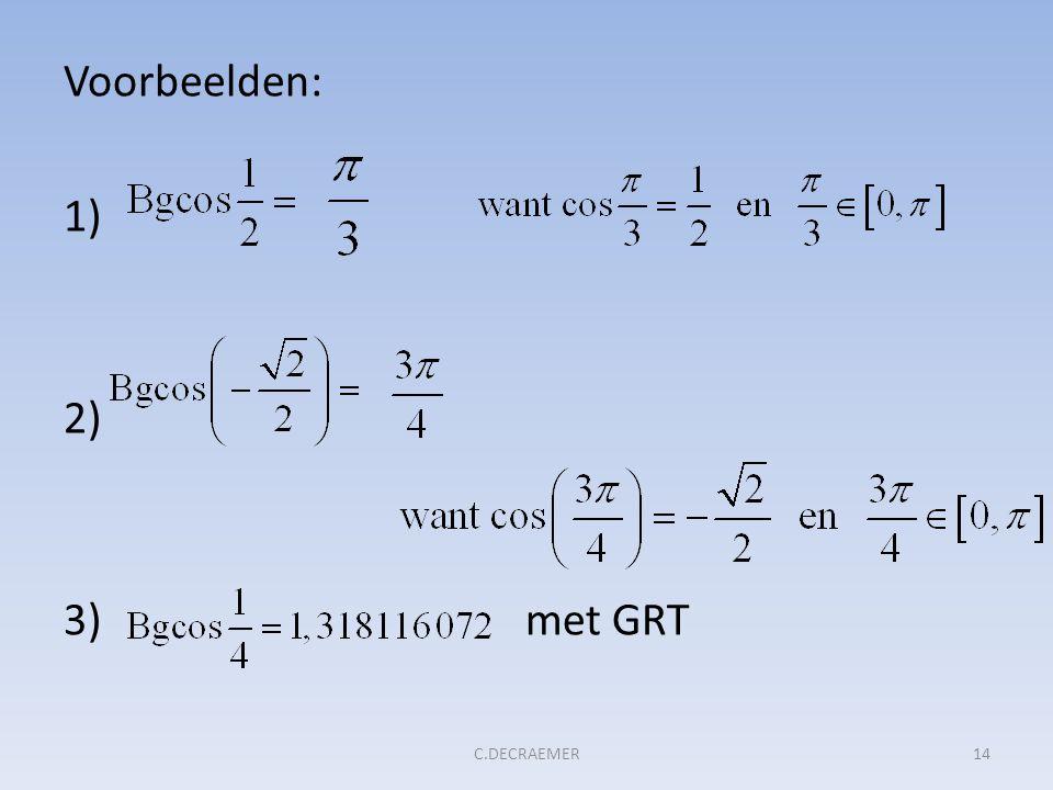 Voorbeelden: 1) 2) 3) met GRT 14C.DECRAEMER