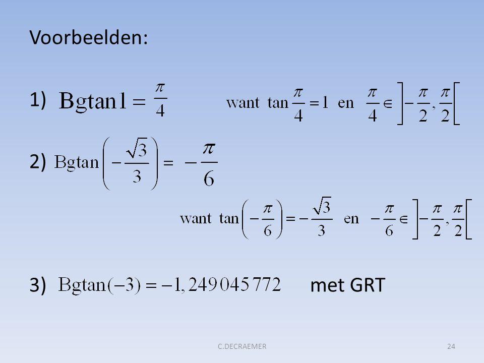 Voorbeelden: 1) 2) 3) met GRT 24C.DECRAEMER