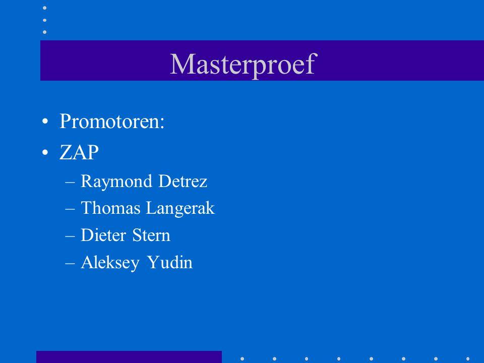 Masterproef Promotoren: ZAP –Raymond Detrez –Thomas Langerak –Dieter Stern –Aleksey Yudin