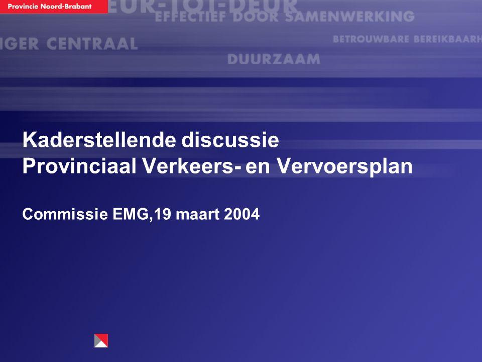 Kaderstellende discussie Provinciaal Verkeers- en Vervoersplan Commissie EMG,19 maart 2004