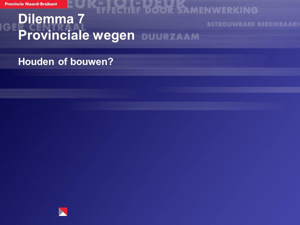 Dilemma 7 Provinciale wegen Houden of bouwen?