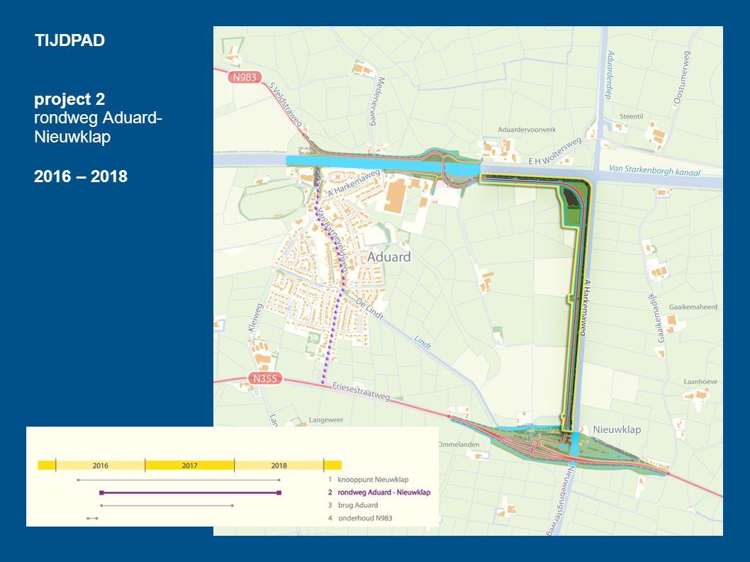 TIJDPAD project 2 rondweg Aduard- Nieuwklap 2016 – 2018