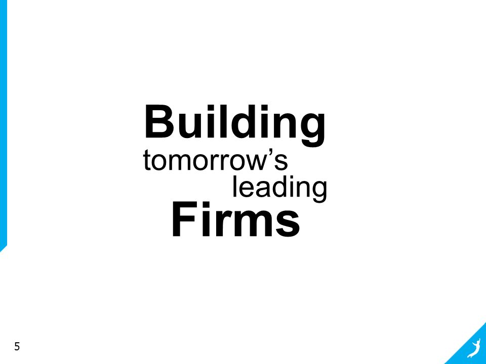 5 Building tomorrow's leading Firms