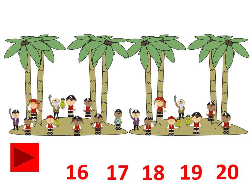 Waar zie je een pirateneiland met 4 palmbomen.