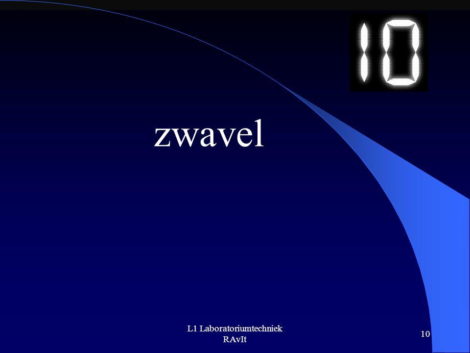 L1 Laboratoriumtechniek RAvIt 10 zwavel