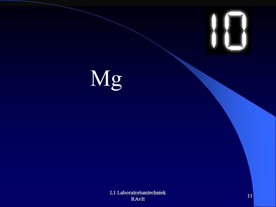 L1 Laboratoriumtechniek RAvIt 11 Mg