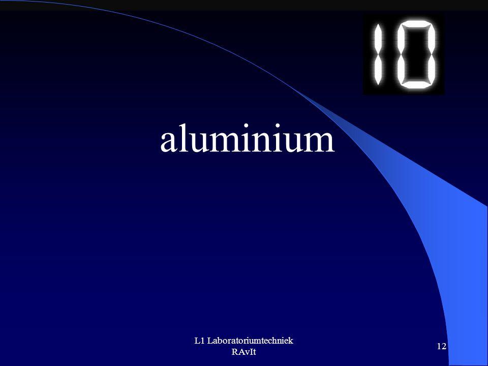 L1 Laboratoriumtechniek RAvIt 12 aluminium