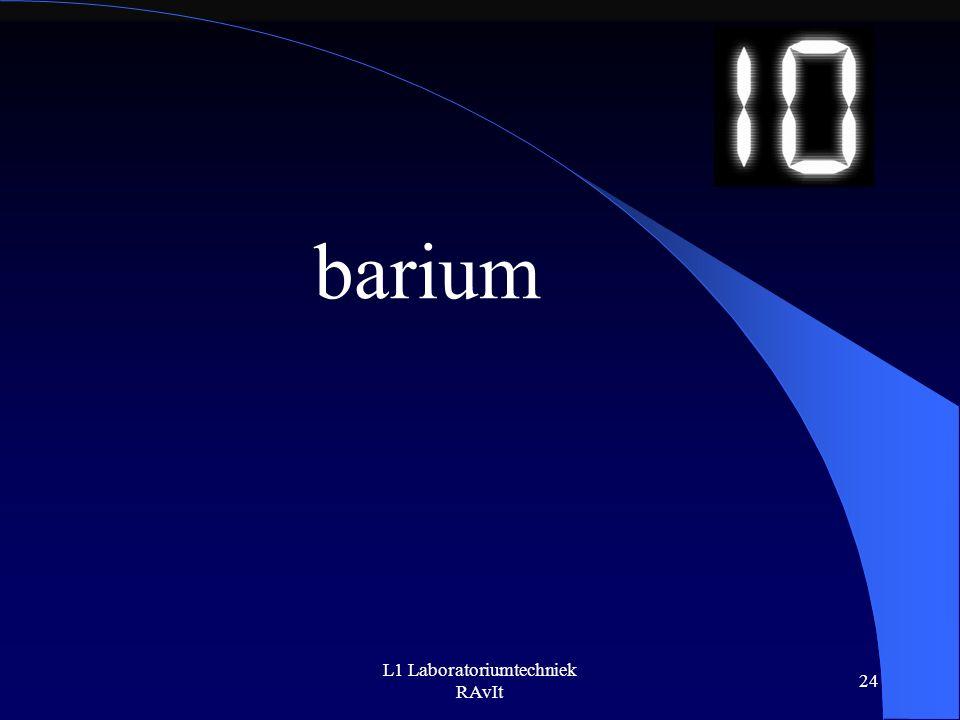L1 Laboratoriumtechniek RAvIt 24 barium