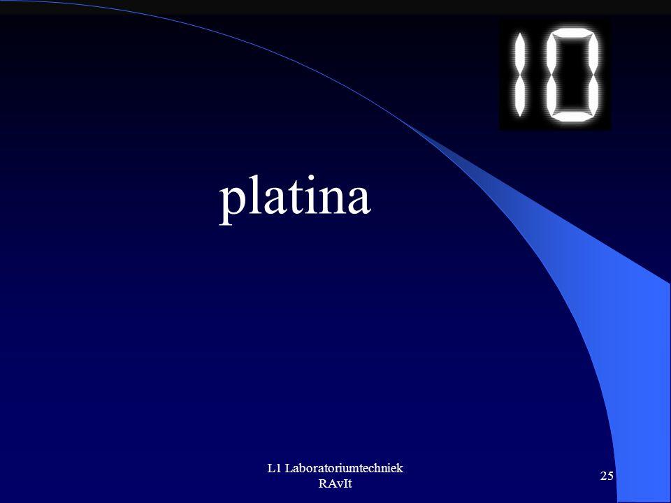 L1 Laboratoriumtechniek RAvIt 25 platina