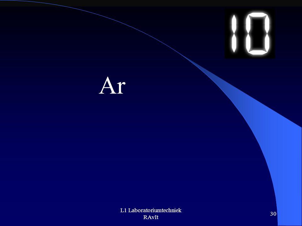 L1 Laboratoriumtechniek RAvIt 30 Ar