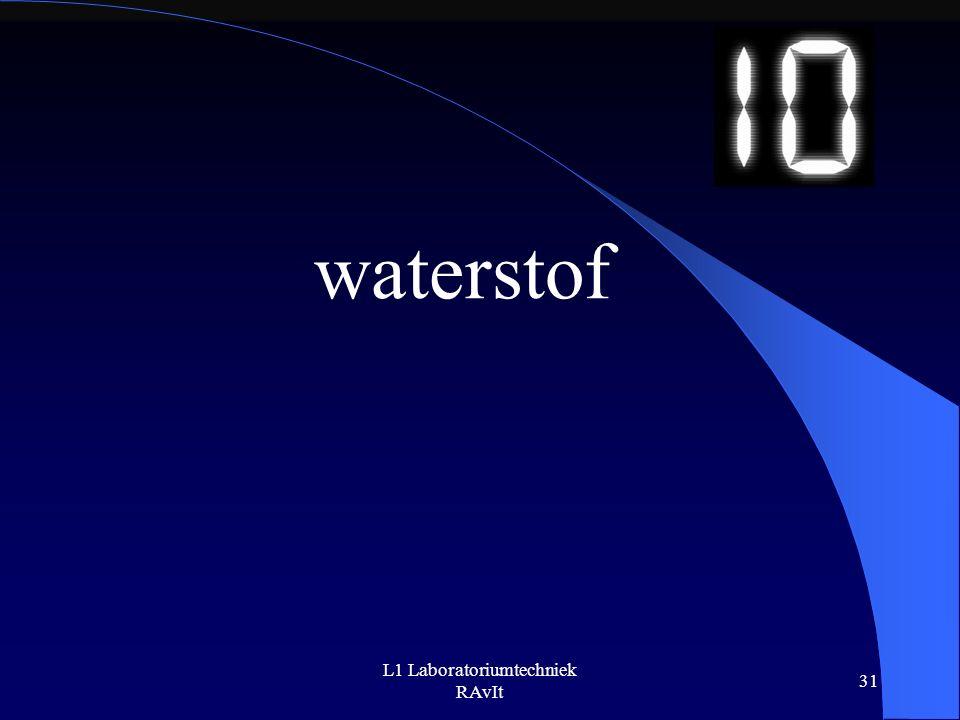 L1 Laboratoriumtechniek RAvIt 31 waterstof