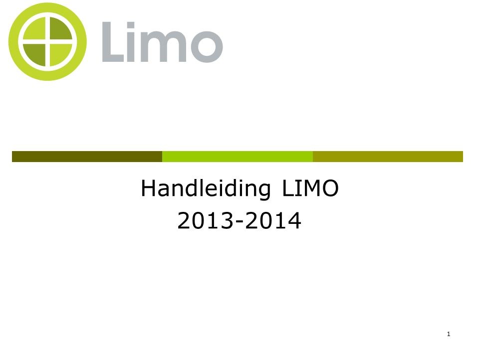 2 Inhoud  Wat is LIMO.
