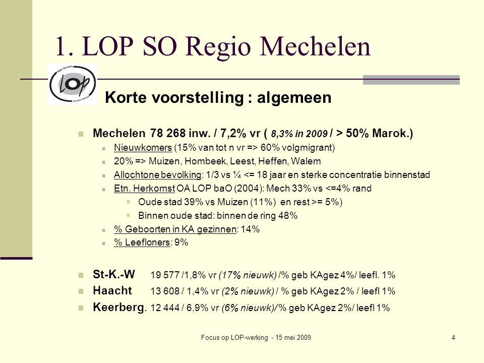 Focus op LOP-werking - 15 mei 20094 1.