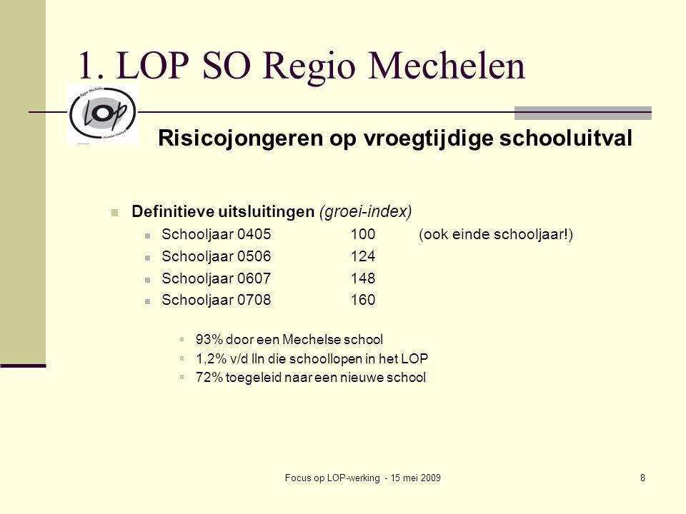 Focus op LOP-werking - 15 mei 20098 1.