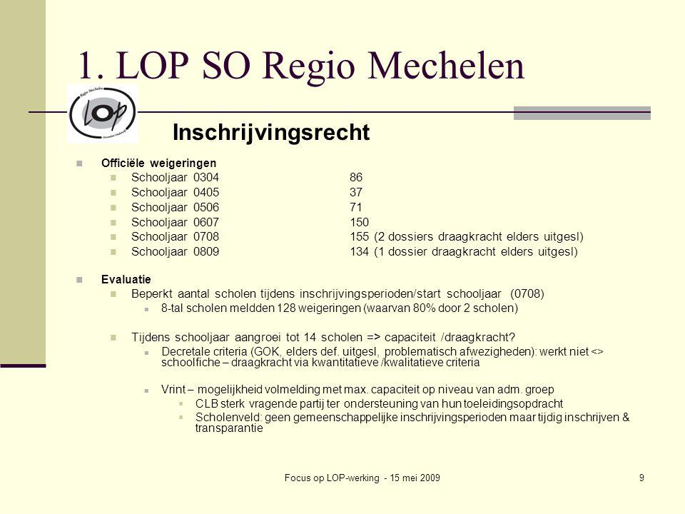 Focus op LOP-werking - 15 mei 20099 1.