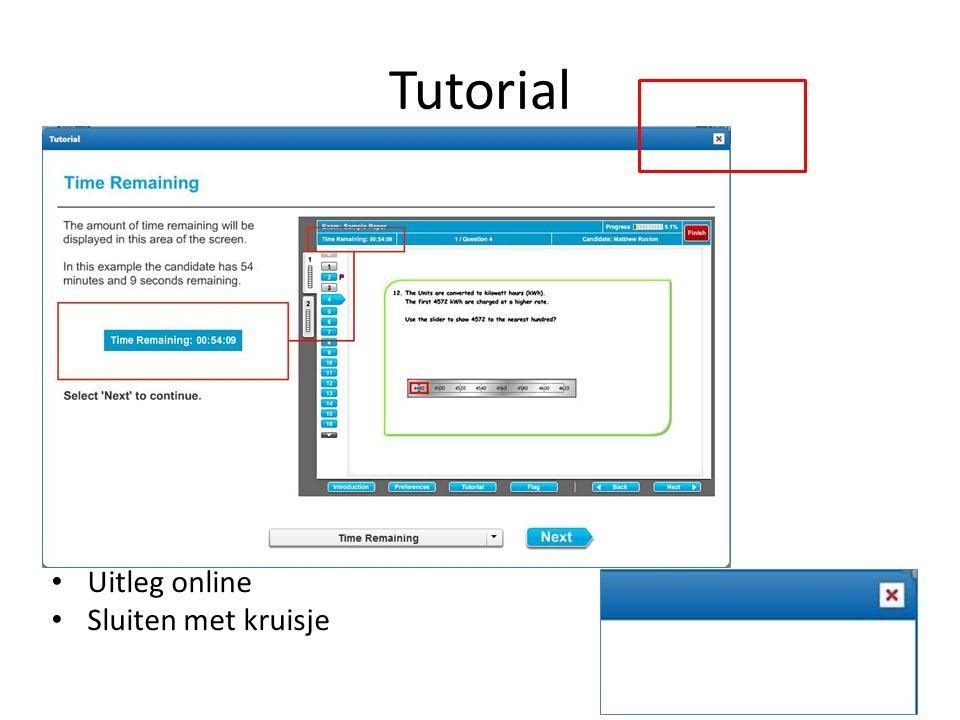 Tutorial Uitleg online Sluiten met kruisje